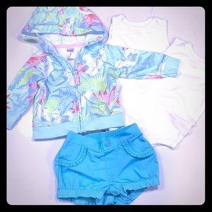 Other - Tropical beach set outfit bundle- Hawaiian 🌺